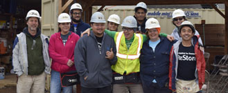 group photo of ReStore staff at Glisan Gardens build