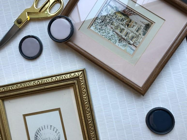Diy gallery wall from vintage frames portland metro and clark diy gallery wall from vintage frames solutioingenieria Gallery